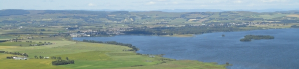 Kinross and Loch Leven from Benarty